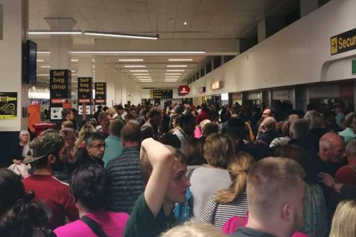 Manchester airport power outage causes wide spread cancellations and delays
